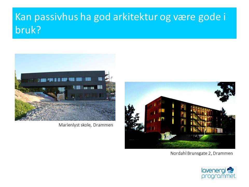 Kan passivhus ha god arkitektur og være gode i bruk.