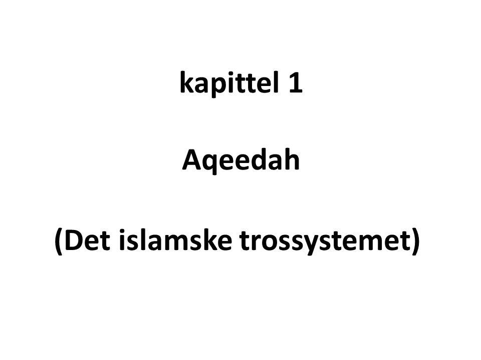 kapittel 1 Aqeedah (Det islamske trossystemet)