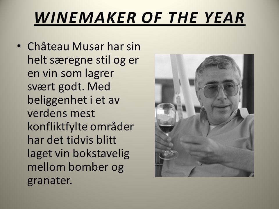 WINEMAKER OF THE YEAR • Château Musar har sin helt særegne stil og er en vin som lagrer svært godt.