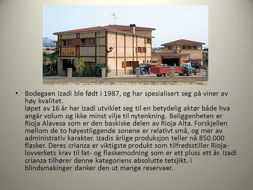 • Bodegaen Izadi ble født i 1987, og har spesialisert seg på viner av høy kvalitet.