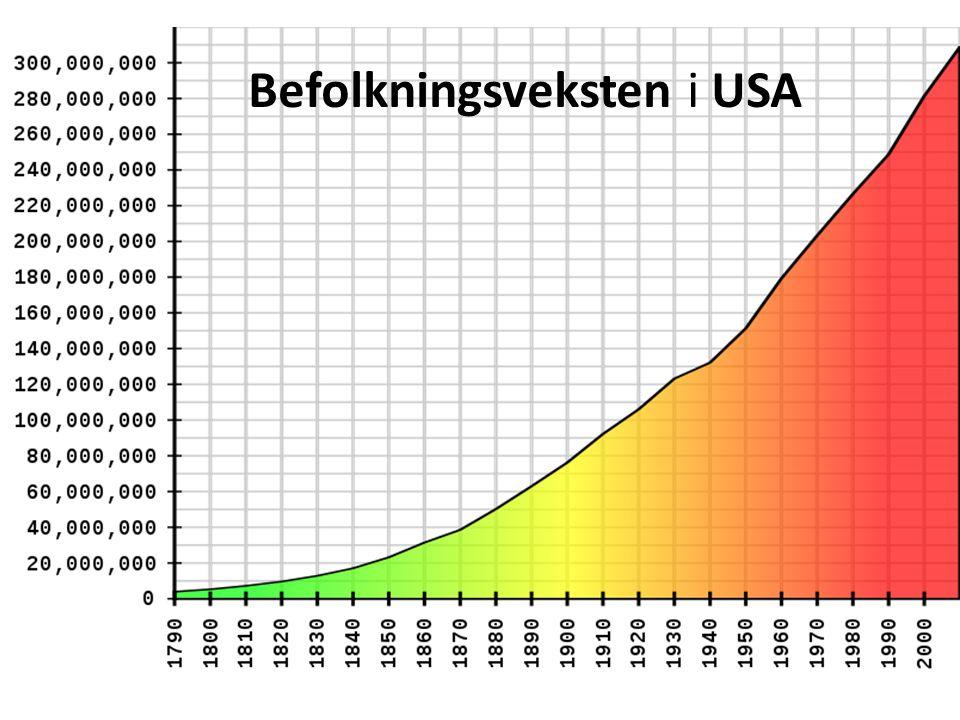 USA – en ny og lokkende verden • Millioner av mennesker dro fra den gamle til den nye verden .