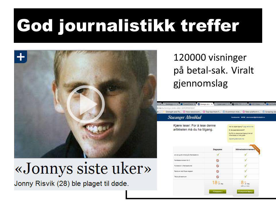 God journalistikk treffer 120000 visninger på betal-sak. Viralt gjennomslag