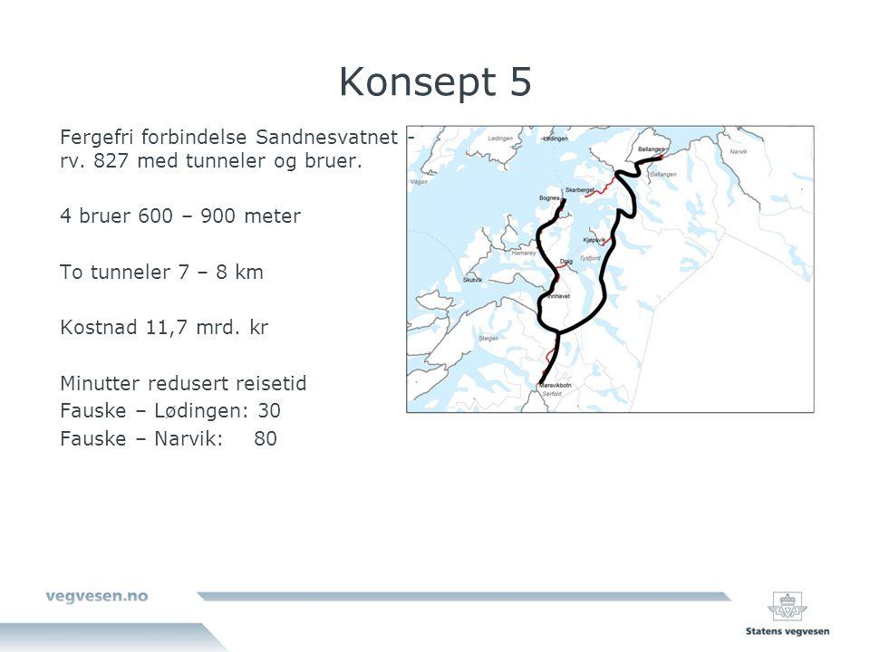 Konsept 5 Fergefri forbindelse Sandnesvatnet - rv.