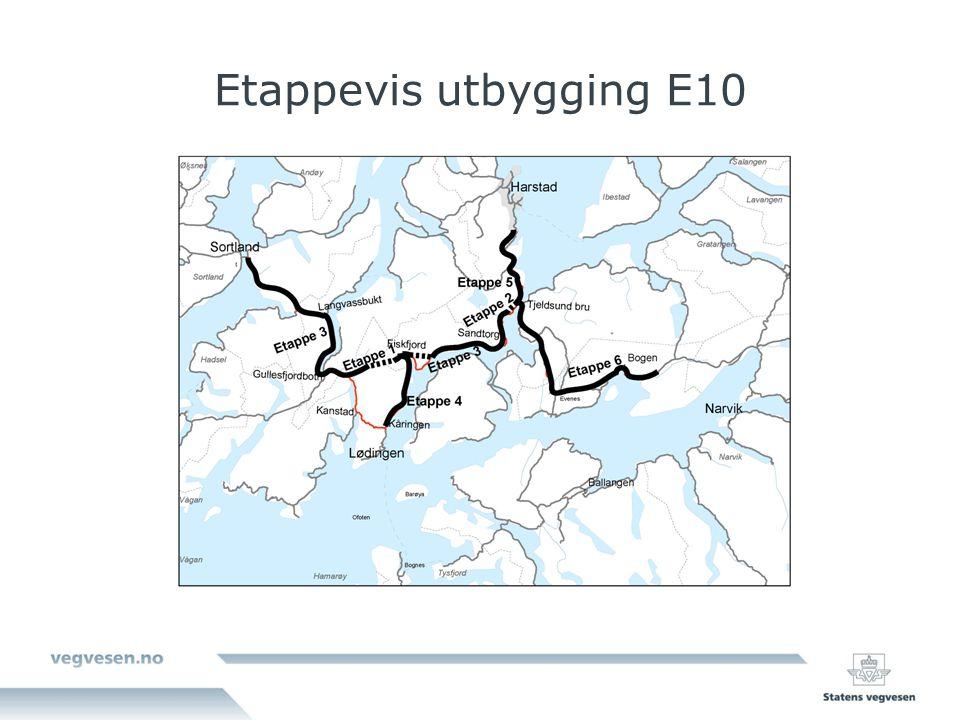 Etappevis utbygging E10