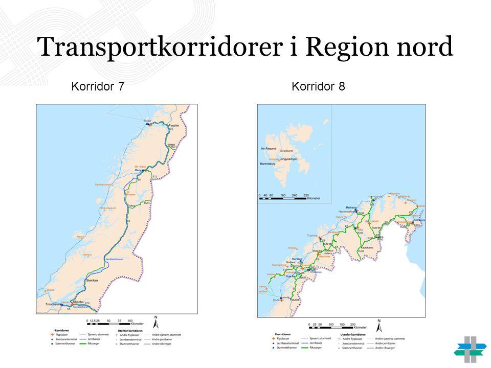Transportkorridorer i Region nord Korridor 7Korridor 8