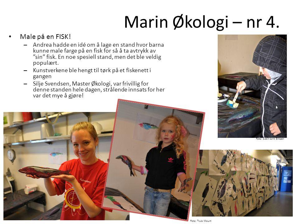 """• Male på en FISK! – Andrea hadde en idé om å lage en stand hvor barna kunne male farge på en fisk for så å ta avtrykk av """"sin"""" fisk. En noe spesiell"""