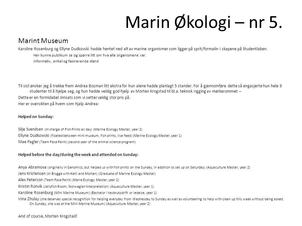 Marint Museum Karoline Rosenburg og Ellyne Dudkovski hadde hentet ned alt av marine organismer som ligger på sprit/formalin i skapene på Studentlaben.