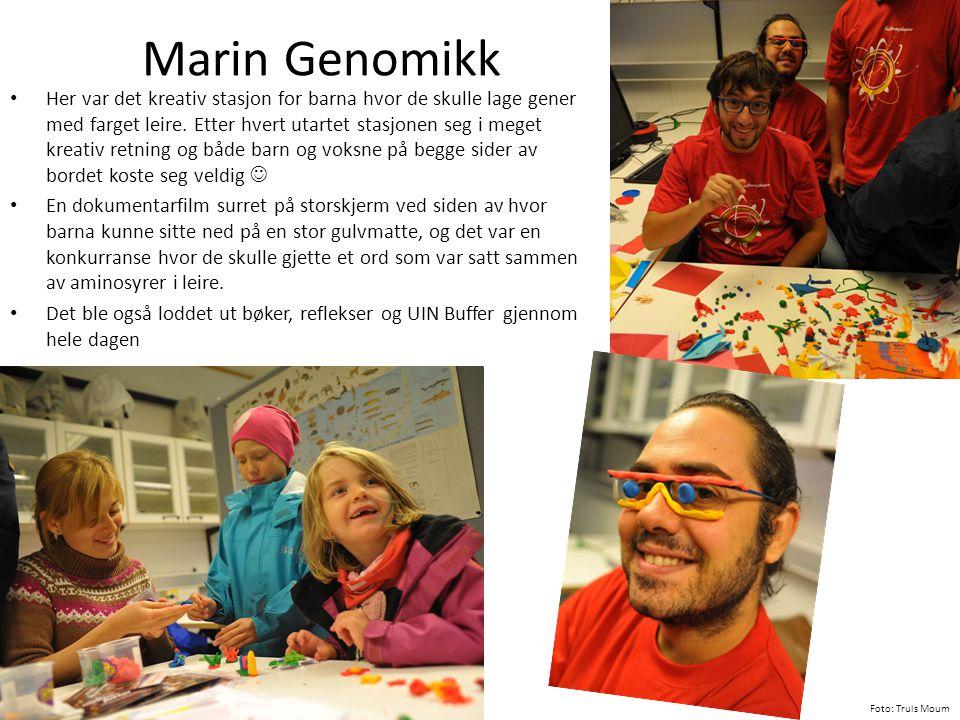 Marin Genomikk • Her var det kreativ stasjon for barna hvor de skulle lage gener med farget leire. Etter hvert utartet stasjonen seg i meget kreativ r