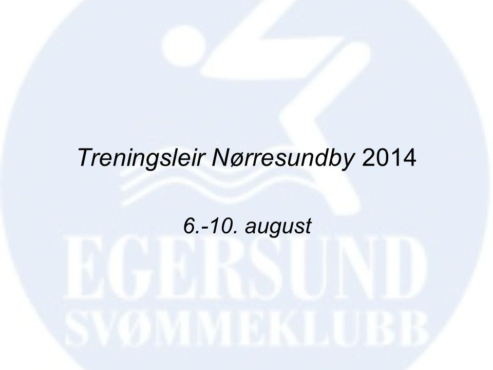 Treningsleir Nørresundby 2014 6.-10. august