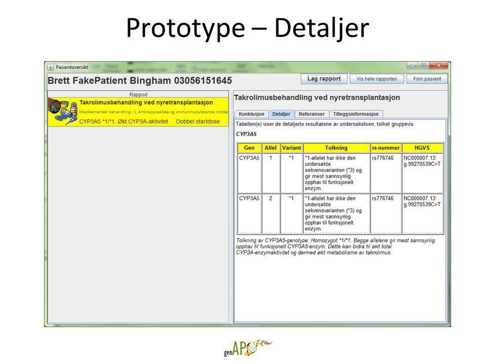 Prototype – Detaljer