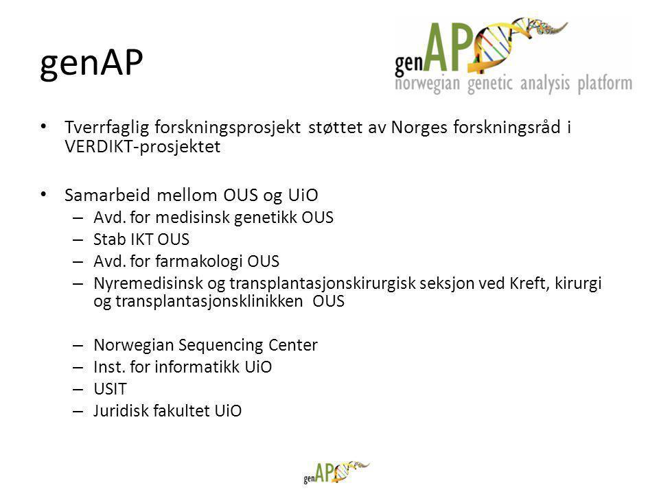 • Tverrfaglig forskningsprosjekt støttet av Norges forskningsråd i VERDIKT-prosjektet • Samarbeid mellom OUS og UiO – Avd.