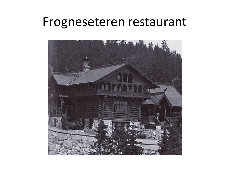 Frogneseteren restaurant