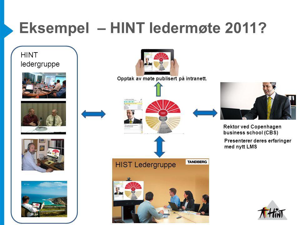 Eksempel – HINT ledermøte 2011.