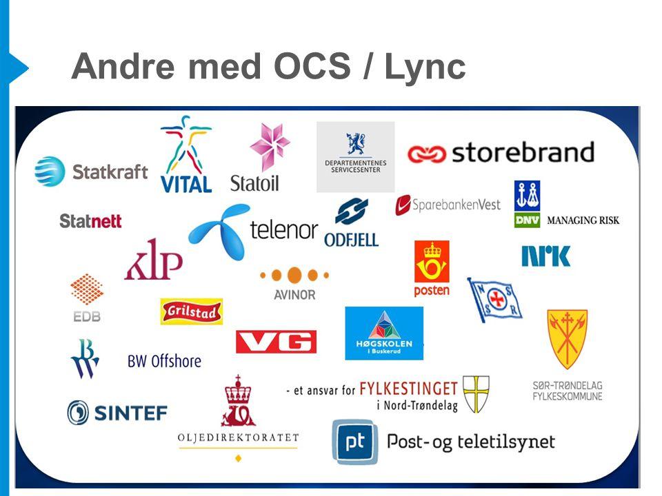 Andre med OCS / Lync