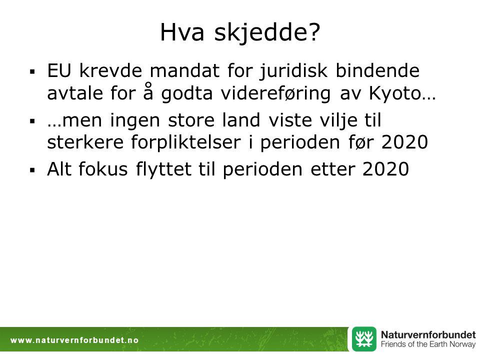www.naturvernforbundet.no Hva skjedde.