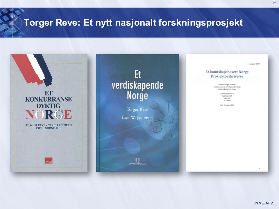 12 Torger Reve: Et nytt nasjonalt forskningsprosjekt