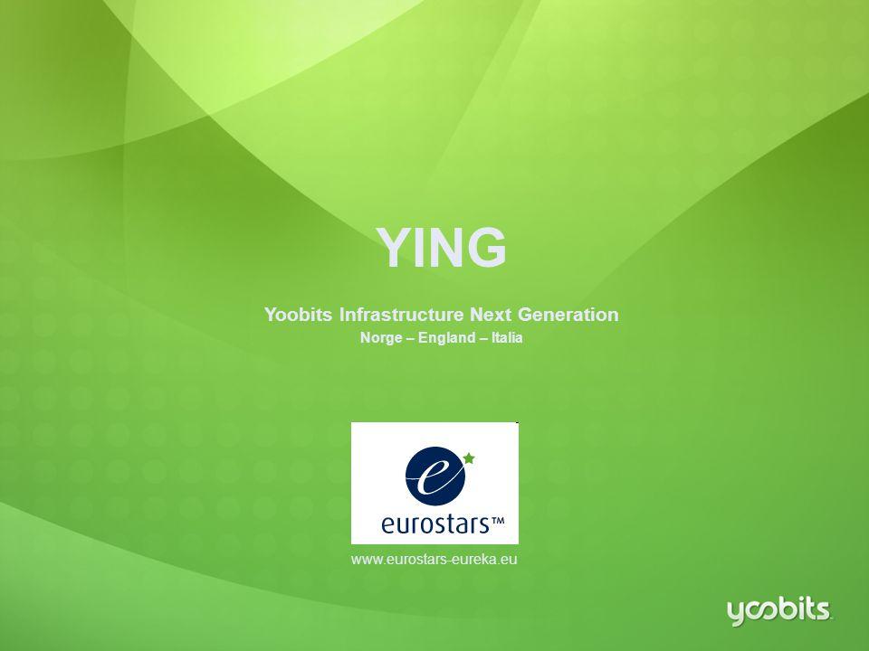 20 YING Yoobits Infrastructure Next Generation Norge – England – Italia www.eurostars-eureka.eu