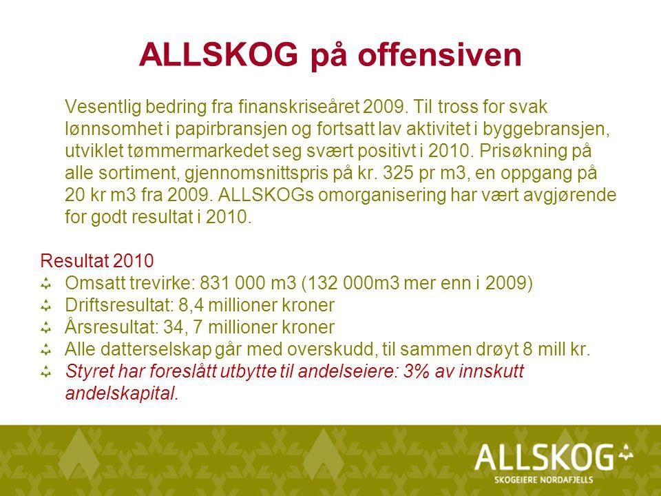 ALLSKOG på offensiven Vesentlig bedring fra finanskriseåret 2009.