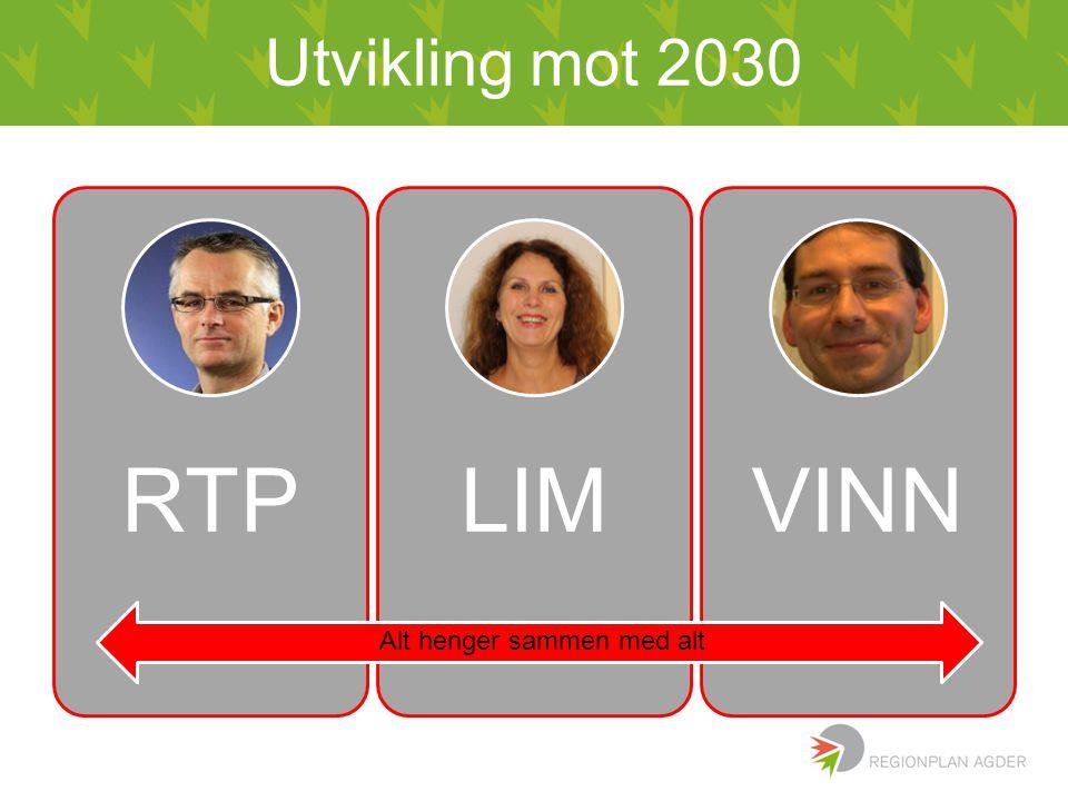 Utvikling mot 2030 RTPLIMVINN Alt henger sammen med alt