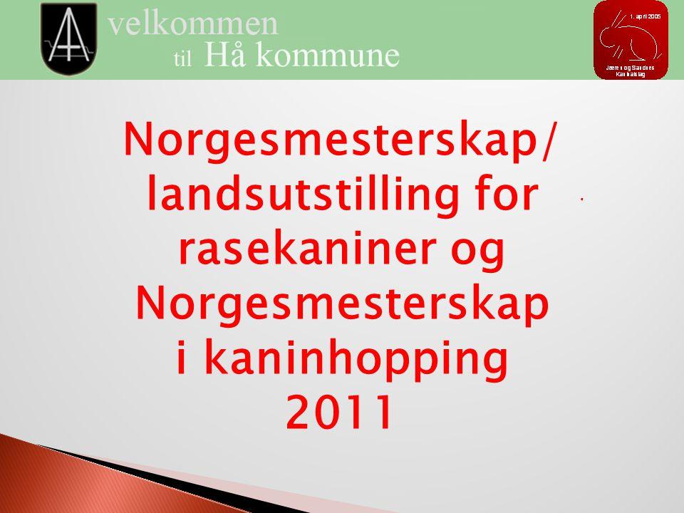 Norgesmesterskap/ landsutstilling for rasekaniner og Norgesmesterskap i kaninhopping 2011.
