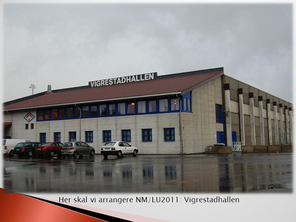 Her skal vi arrangere NM/LU2011: Vigrestadhallen