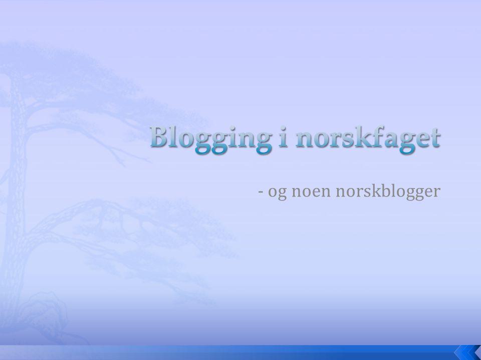- og noen norskblogger