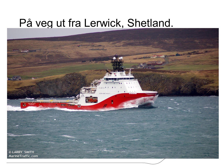 På veg ut fra Lerwick, Shetland.