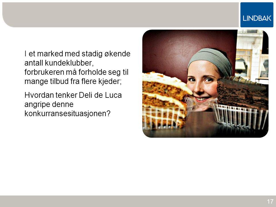 www.lindbak.no I et marked med stadig økende antall kundeklubber, forbrukeren må forholde seg til mange tilbud fra flere kjeder; Hvordan tenker Deli d