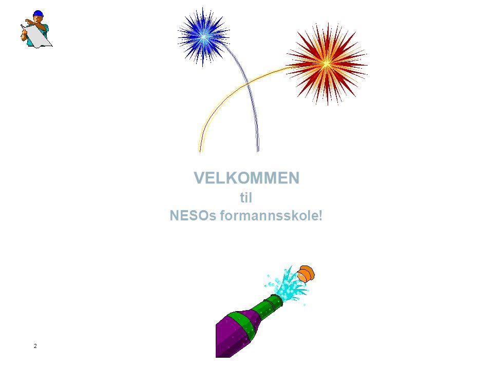 2 VELKOMMEN til NESOs formannsskole!