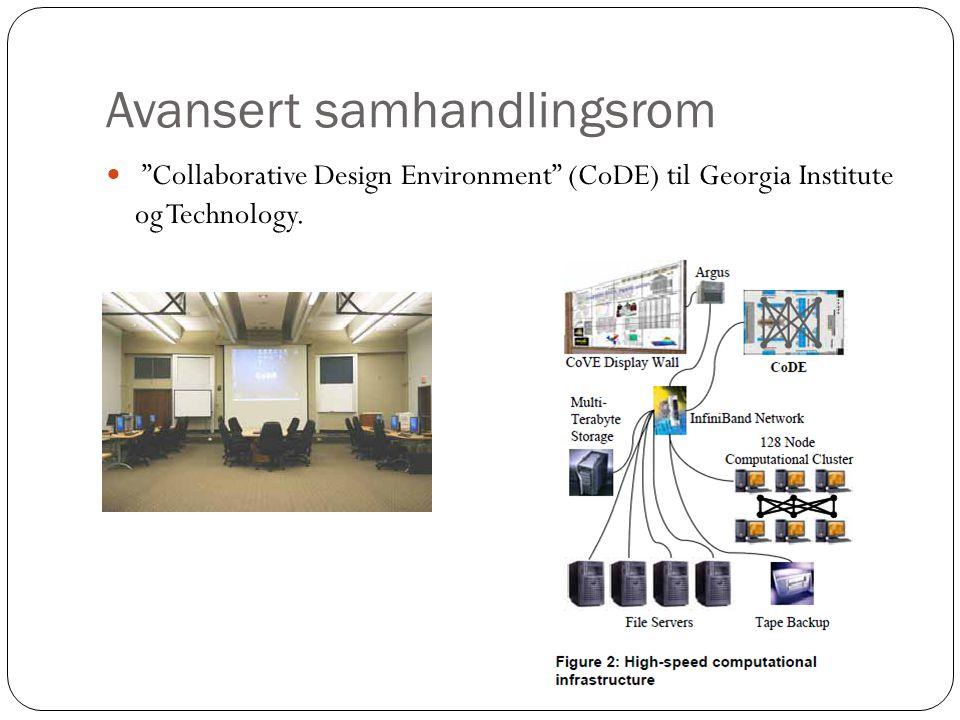 Avansert samhandlingsrom  Collaborative Design Environment (CoDE) til Georgia Institute og Technology.