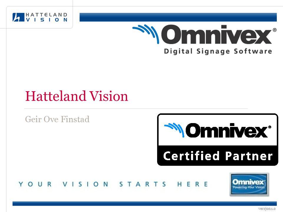 versjon 1.0 Hatteland Vision Geir Ove Finstad