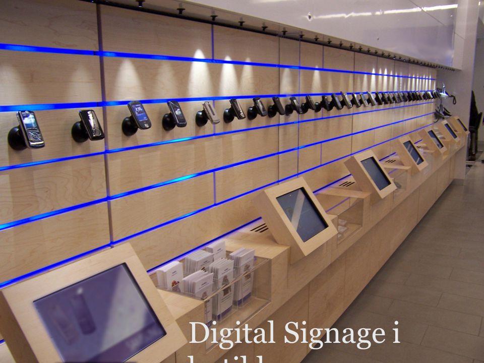 versjon 1.0 Digital Signage i butikk
