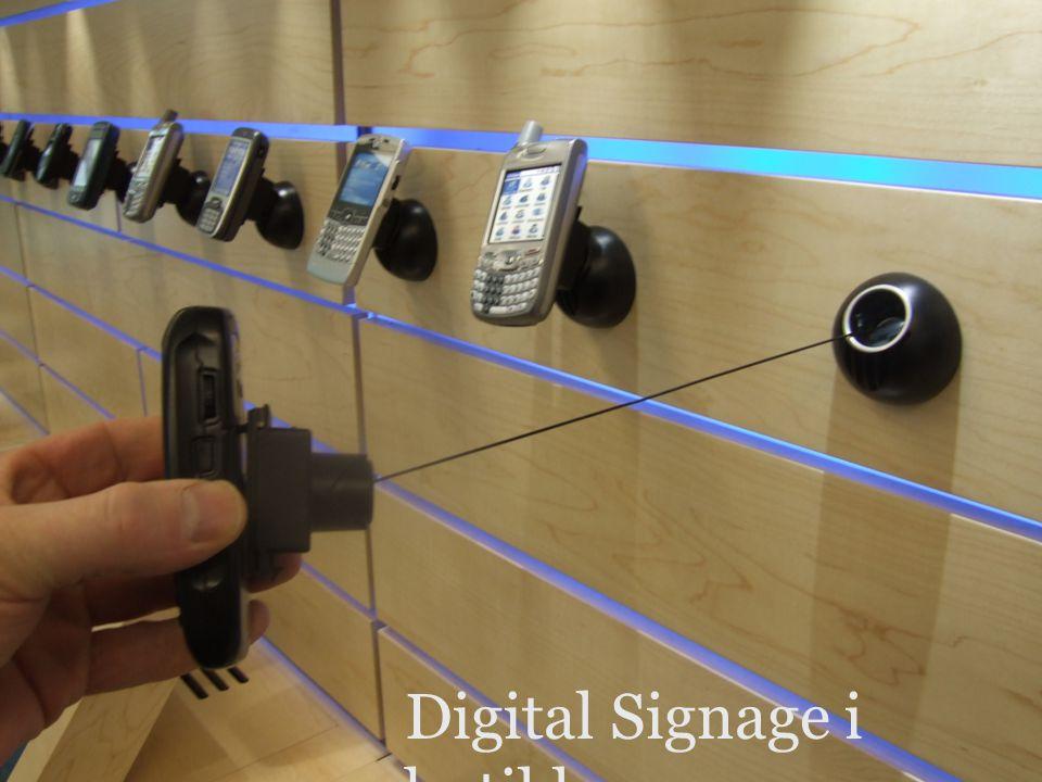 versjon 1.0 Retail Digital Signage i butikk