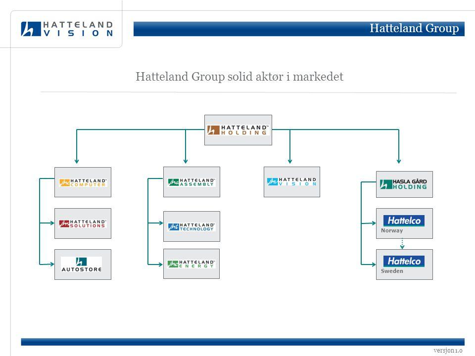 versjon 1.0 Norway Sweden Hatteland Group solid aktør i markedet Hatteland Group