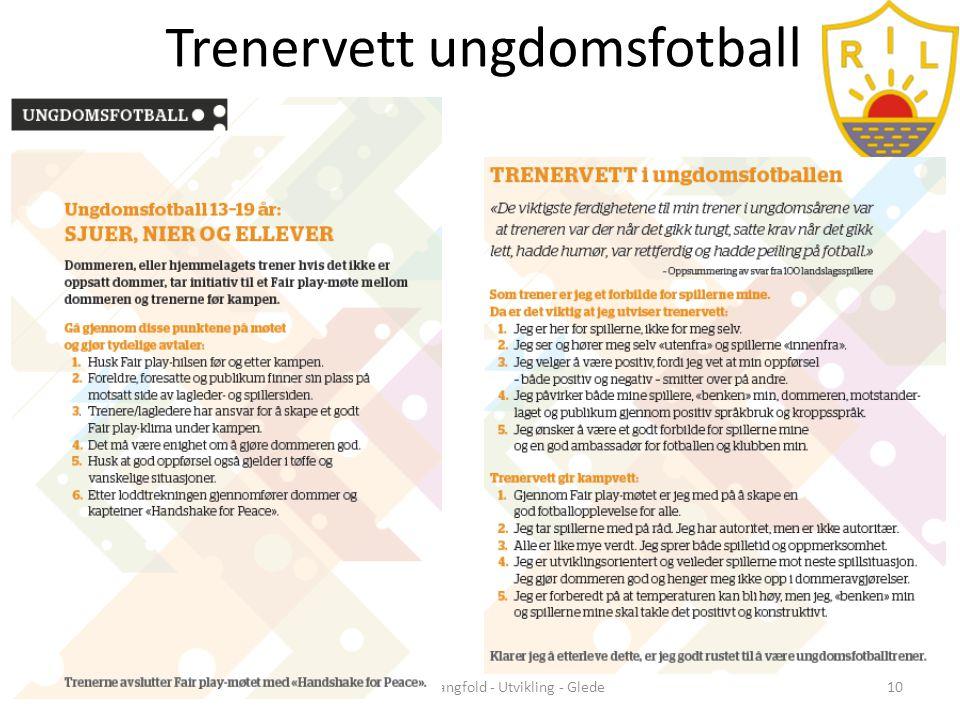Trenervett ungdomsfotball Samhold - Mangfold - Utvikling - Glede10
