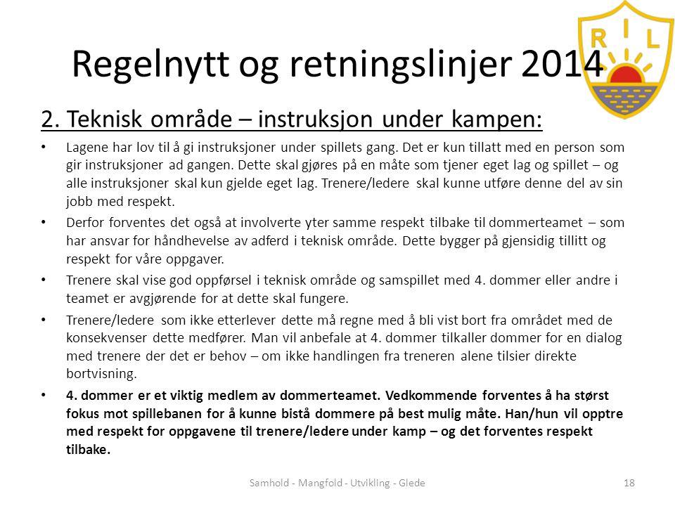 Regelnytt og retningslinjer 2014 2.