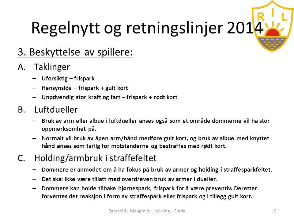Regelnytt og retningslinjer 2014 3.