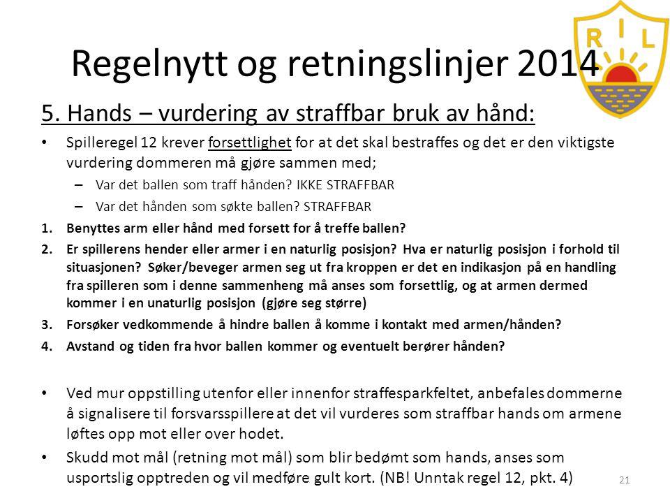 Regelnytt og retningslinjer 2014 5.