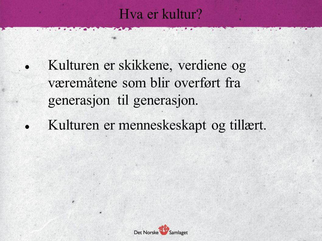 Finnes det en norsk kultur?