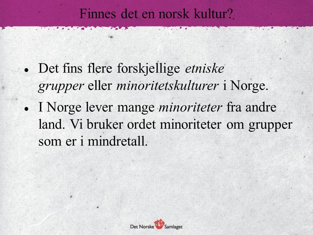Det norske samfunnet har endret seg fra å være et ganske homogent eller ensartet samfunn til å bli et heterogent eller mangfoldig samfunn med større variasjon og større ulikheter i levemåte.