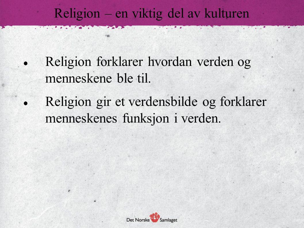  Religion gir et grunnlag for verdier og normer i samfunnet.