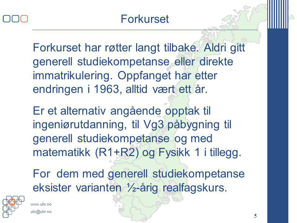 www.uhr.no uhr@uhr.no TRESS - merknadene Tresemesterordningen (TRESS), jf.