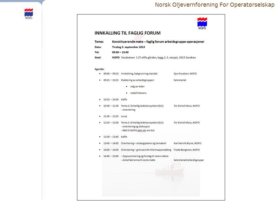 Norsk Oljevernforening For Operatørselskap