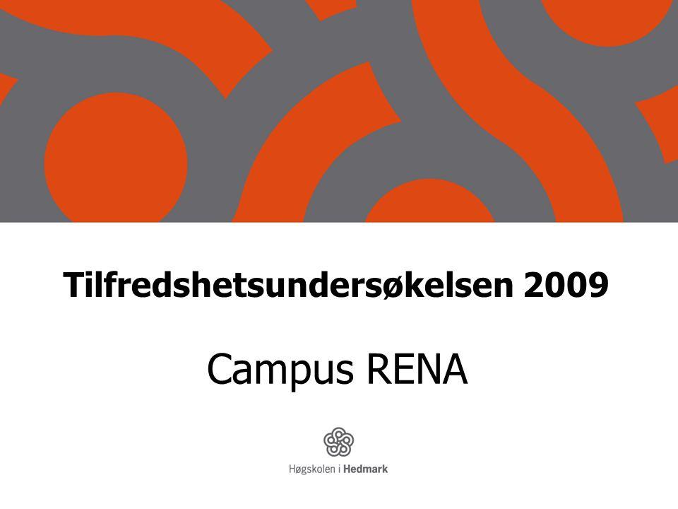 Tilfredshetsundersøkelsen 2009 Campus RENA