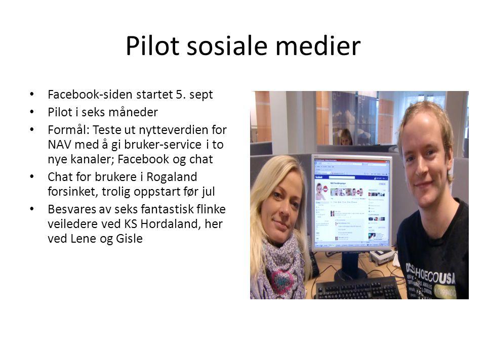 Pilot sosiale medier • Facebook-siden startet 5.