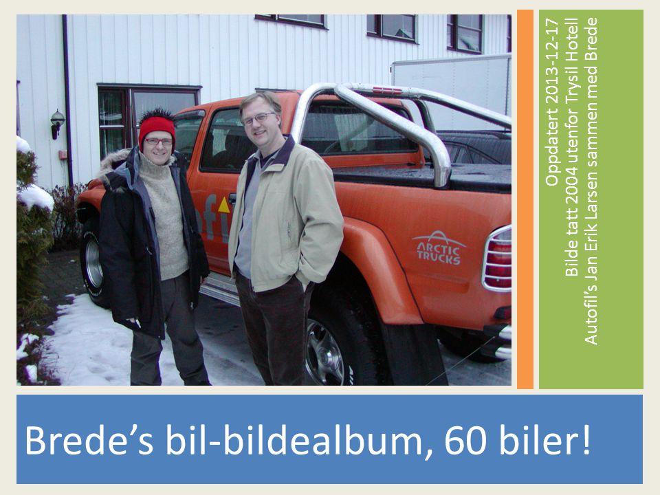 Brede's bil-bildealbum, 60 biler.