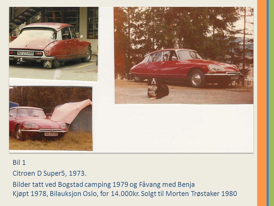 Bil 11 Citroen BX 16RS 1984.Bilde tatt utenfor garasjen i Maridalsveien 305, Oslo 1991.