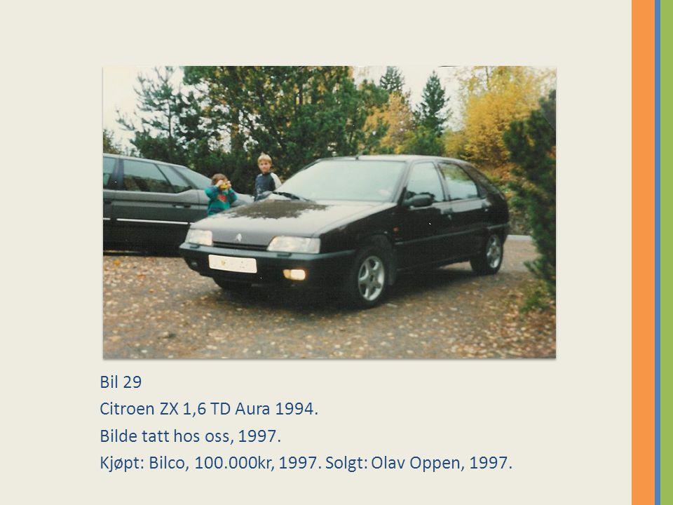 Bil 29 Citroen ZX 1,6 TD Aura 1994.Bilde tatt hos oss, 1997.