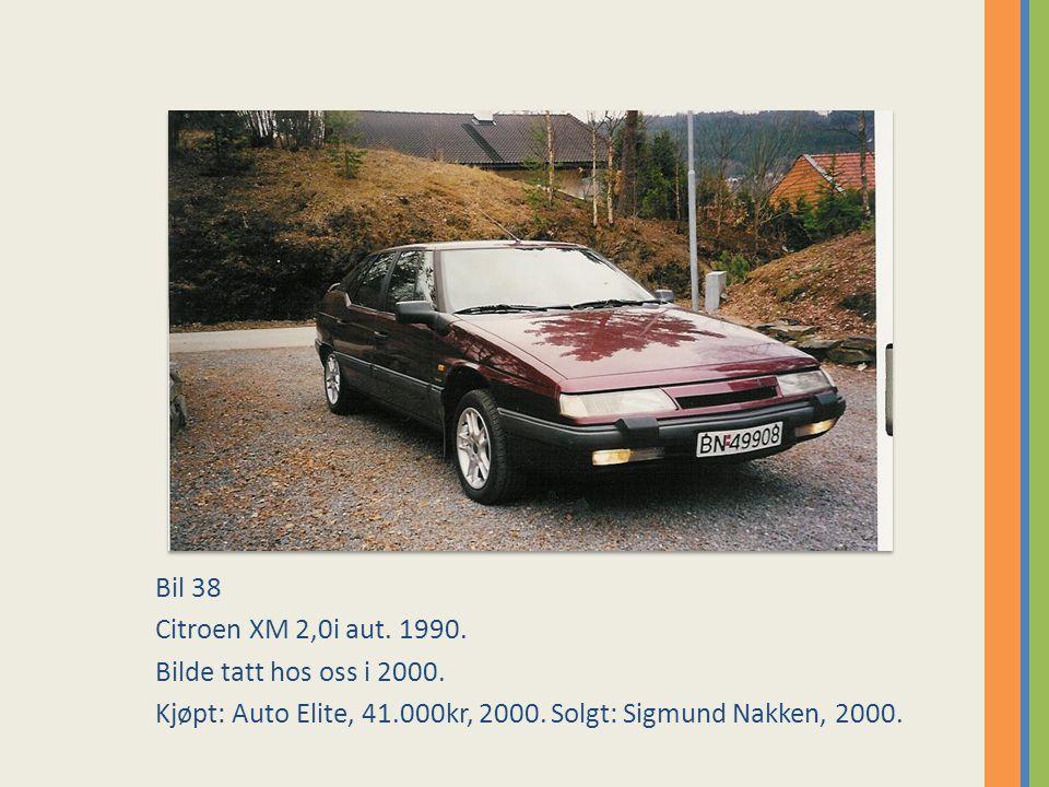 Bil 38 Citroen XM 2,0i aut.1990. Bilde tatt hos oss i 2000.