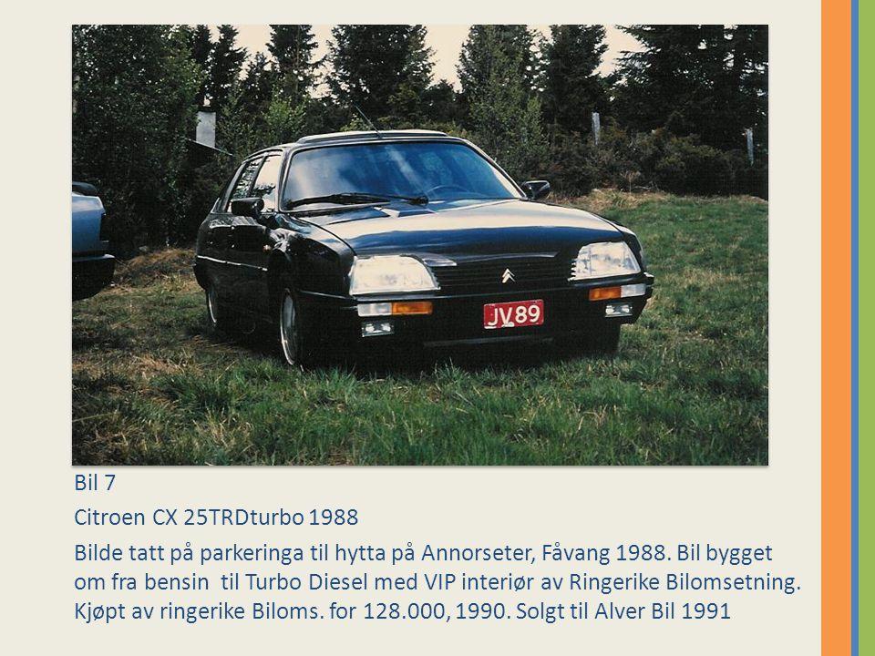 Bil 8 Citroen BX 16RS 1985, ble ombygd til 19GT.